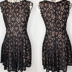 City of Triangles Black Lace Party Dress EUC SZ 3